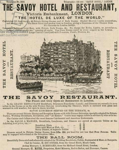 Savoy Hotel Advert