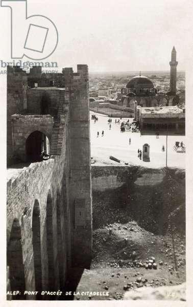 Aleppo - Syria - Bridge access to the Citadel