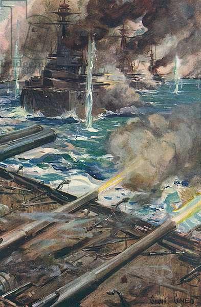 Sea Battle, World War I by Cyrus Cuneo