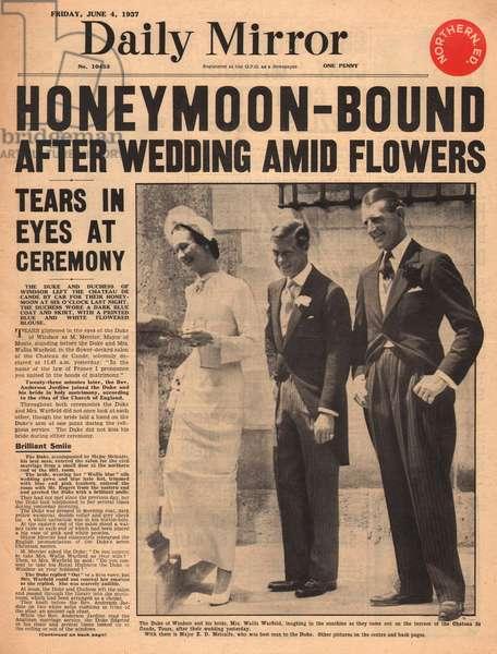 Duke of Windsor marries Wallis Simpson in France