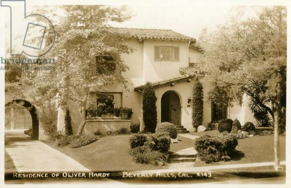 Residence of Oliver Hardy, Beverly Hills, California, USA