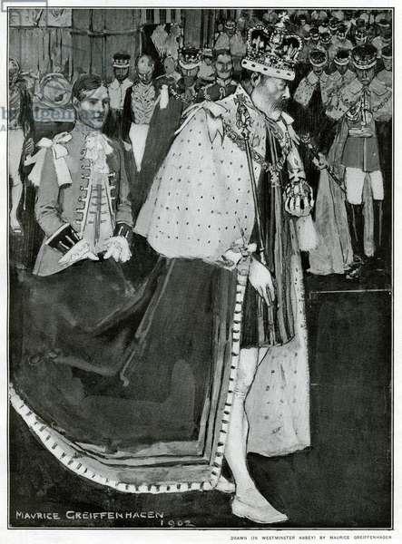 King Edward leaving Westminster Abbey
