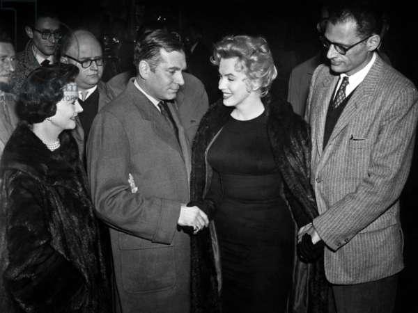 Vivien Leigh, Laurence Olivier, Marilyn Monroe et Arthure Miller