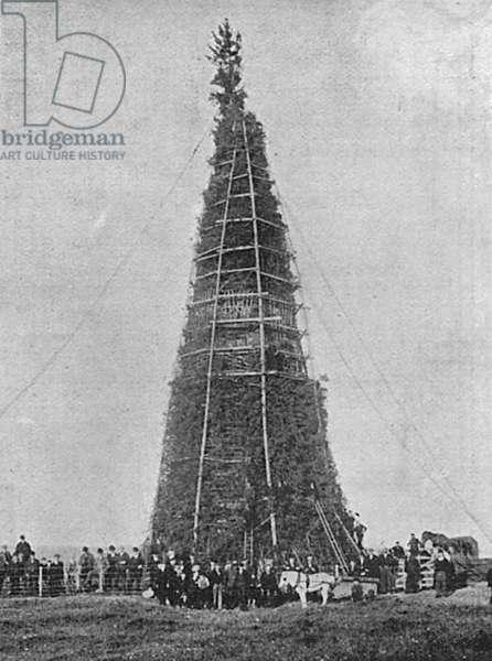 Coronation bonfire at Whitehaven, 1902