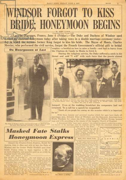 Duke of Windsor marries Wallis Simpson