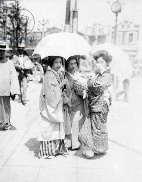 THREE JAPANESE GIRLS