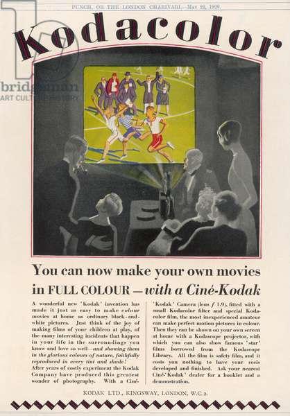 KODAK ADVERT 1929 (PUNCH