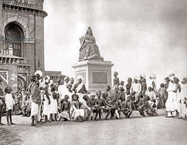 Statue of Queen Victoria, Madras (Chennai) India circa 1897