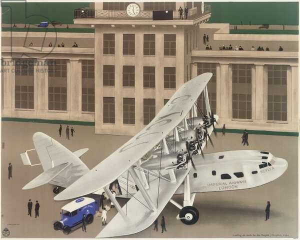 Imperial Airways Poster, Croydon airport scene