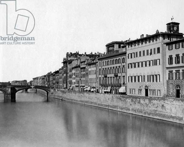 Buildings on the River Arno, Florence, Italy