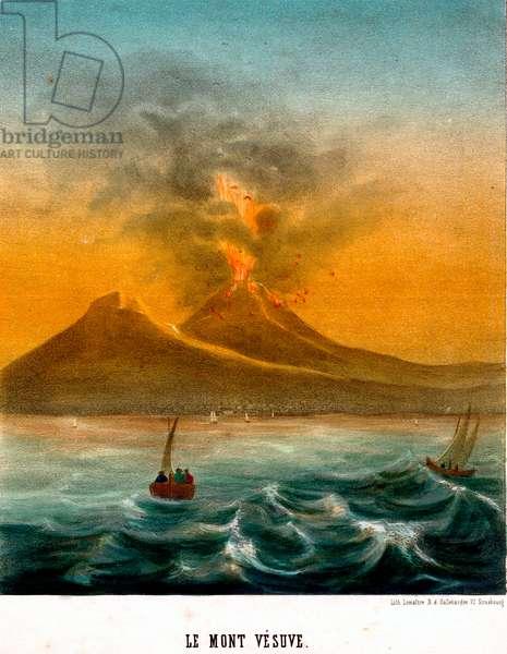 Mount Vesuvius volcano Eruption