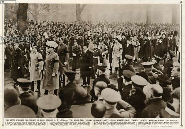State funeral procession of King George V in London