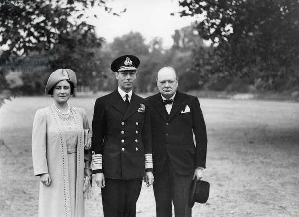 George VI et Winston Churchill