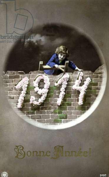 New Year Telegram 1914