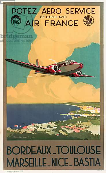 Air France with Potez Aero Service Poster
