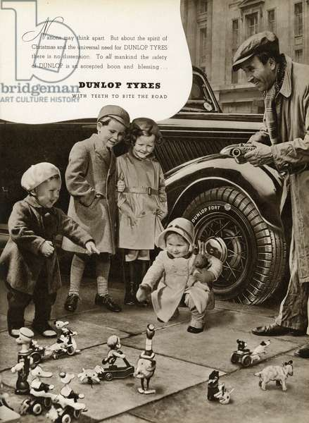 Advert for Dunlop Tyres 1939