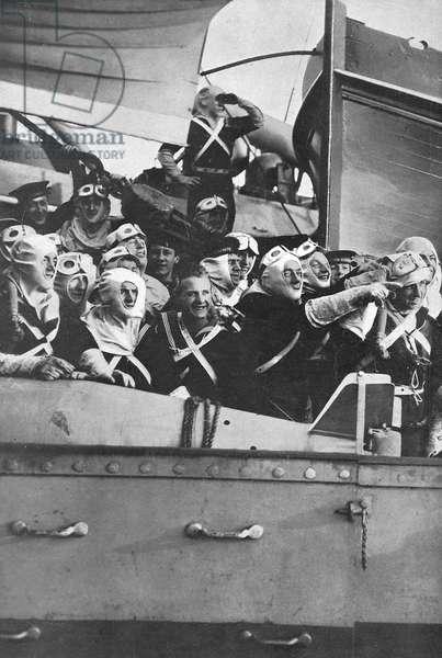 British sailors at German naval surrender, 1918