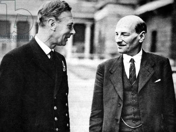 George VI of England and Clement Attlee
