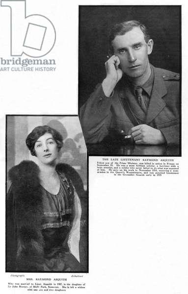 Death of Raymond Asquith, 1916