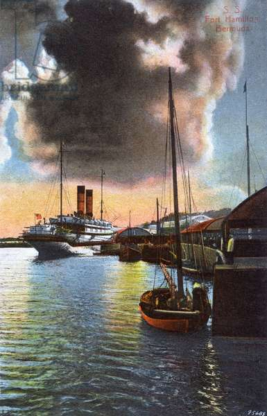 S. S. Fort Hamilton - moored in Bermuda