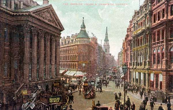 London. The Mansion House and Cheapside