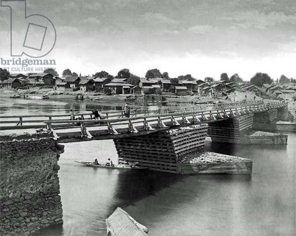 Bridge in Srinagar, Jammu and Kashmir, India