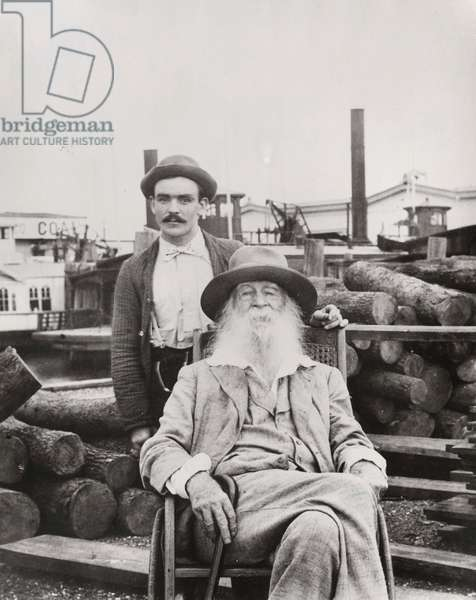 Walt Whitman with his nurse Warren Fritzenger