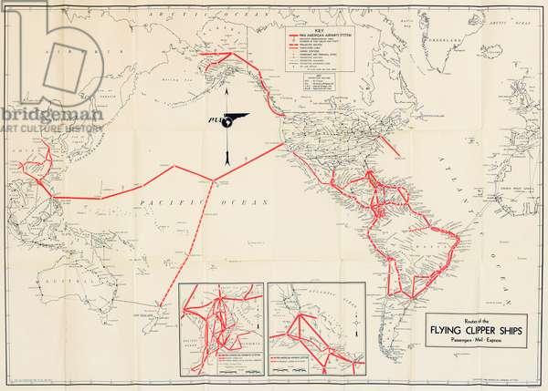 Pan American Airways route map