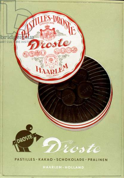 Advertisement for Droste chocolate pastilles