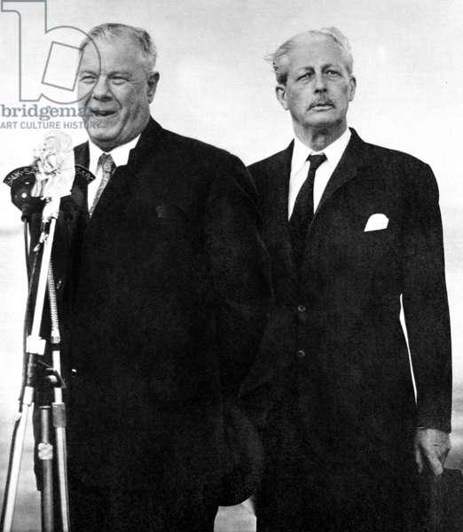 Hendrik Verwoerd and Harold Macmillan