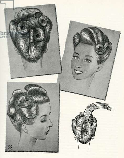 1940s hairstyle suitable for very long hair
