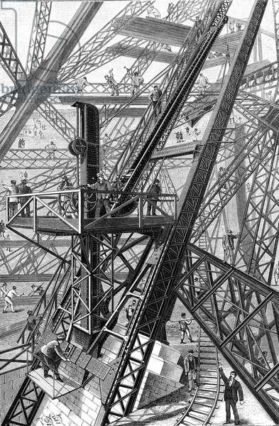 Paris, France - Tour Eiffel, Construction.
