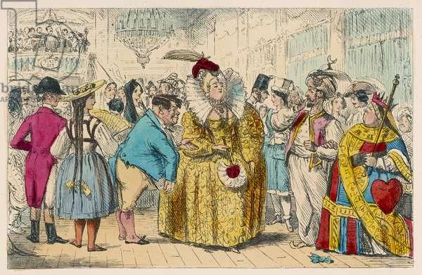 FANCY DRESS PARTY, 1854
