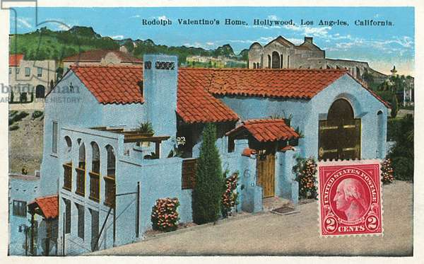 Residence of Rudolph Valentino, Hollywood, USA