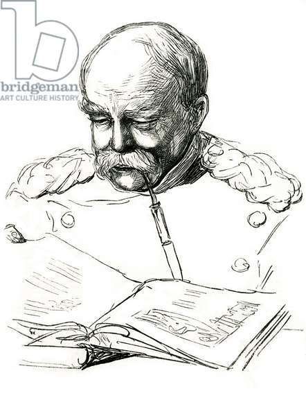 BISMARCK READS, 1877
