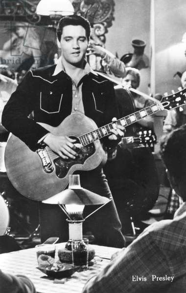 Elvis Presley, American musician and film star