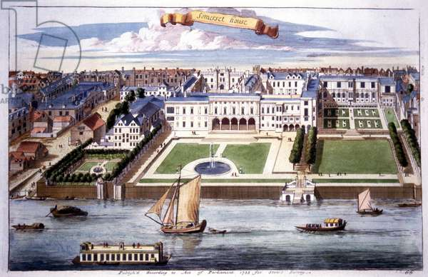 Somerset House and River Thames, London