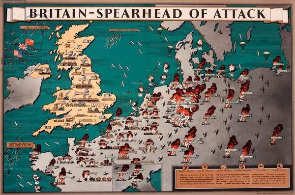 Map, Britain -- Spearhead of Attack, WW2