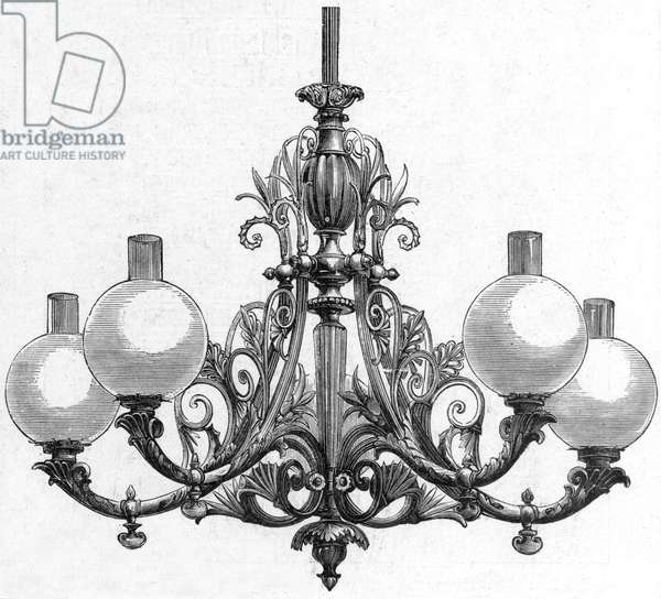 Elster Gas lit chandelier