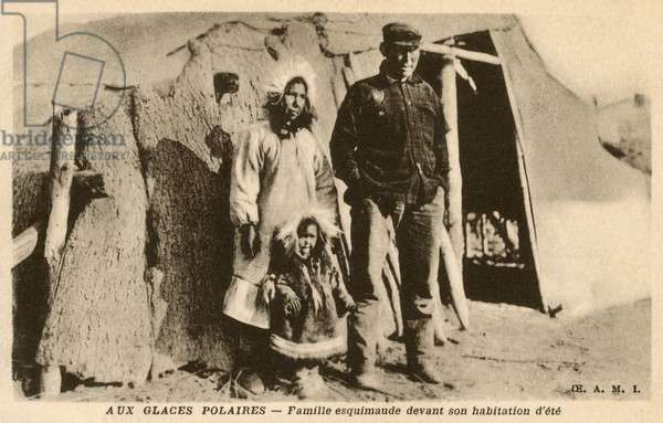 Inuit - Family by their Summer Residence