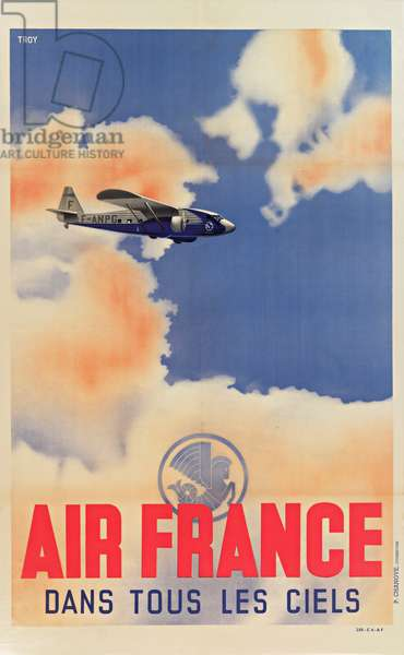 Air France Poster, In All Skies