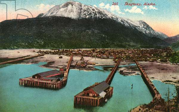 View of Skagway, Alaska, USA