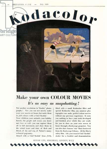 KODAK ADVERT 1929 (B&EVE