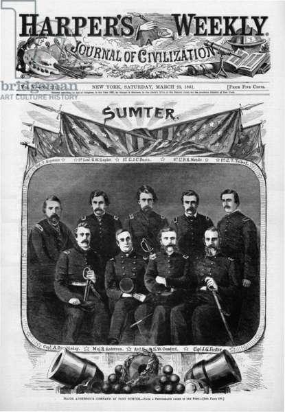 American Civil War Officers at Fort Sumter