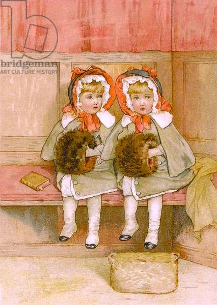 CHILDREN IN COLD CHURCH
