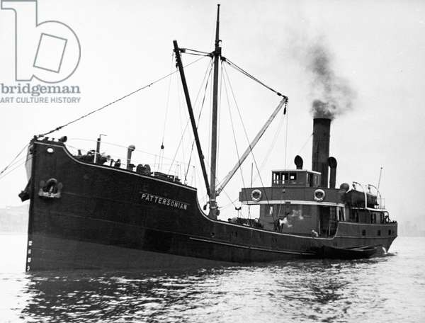 The ship SS Pattersonian in the River Thames, 2nd November 1938