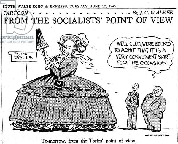 JC Walker World War II Cartoon 'From the Socialists Point of View', 12th June 1945 (litho)