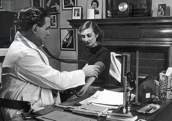 NHS Doctors Surgery, c.1940 (b/w photo)