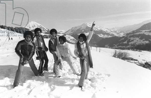 Michael Jackson performing in Switzerland on the slopes