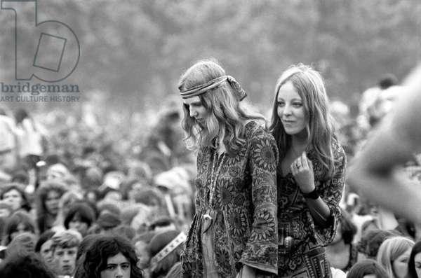 Hyde Park Pop Festival, July 1970 (b/w photo)